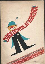 Programme Circo Estatal De Hungria Circus 1969 Full Of Images