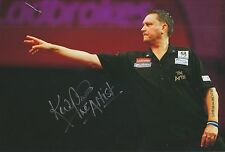 Kevin 'The Artist' Painter Hand Signed 12x8 Photo Darts 1.