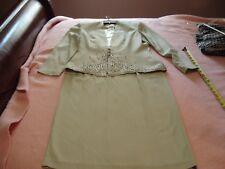 R & M RICHARDS by KAREN KWONG Lt. Green Dress Skirt Suit, SZ - 4P