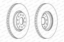 Ferodo DDF1305C Brake Disc Set Vented Coated Front Axle Replaces 1K0615301AA