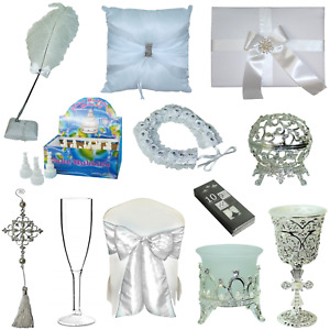 68pce Wedding Event Set of Sashes, Glasses, Bubbles, Decorations, Candles, Guest