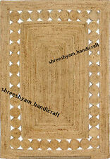 "4x6"" Reversible Braided Rectangle Woven Jute Rug Carpet Modern Rug Home Decor"