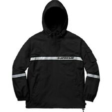 Supreme Reflective Taping Hooded Pullover Jacket / M / Black