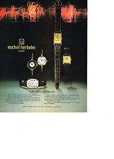 PUBLICITE  1978   MICHEL HERBELIN collection montres IRRESISTIBLES