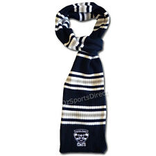 AFL Geelong Cats Striped Cable Knit Loop Scarf