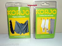 Travel Camping Clothesline Washing Clothes Line Rope with 12Clips Peg or Pegless