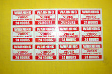 12  24 hour SECURITY sign SURVEILLANCE camera DECAL STICKER property home ALARM