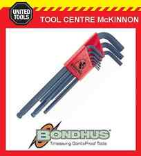 BONDHUS 10999 9pce METRIC LONG ARM BALL POINT HEX ALLEN KEY SET – MADE IN USA