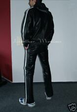 NEW Complete Leather track suit tracksuit jogging pants and jacket