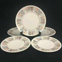 VTG Set of 1 Bread 4 Saucer Plates Taylor-Smith-Taylor Taylorstone Moderne USA