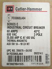 CUTLER HAMMER FD Breaker 1A-1B Auxiliary 60 Amp 3 Pole FD3060LA04