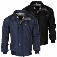 Mens Raiken Sky Diver Bomber Warm Padded Jacket Check Lined Work Winter Coat