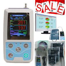 NEW ABPM2 24h Ambulatory Blood Pressure Monitor Holter NIBP MAPA Monitor+3 Cuffs