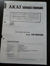 Original Service Manual Akai Compact Disc Player CD-M830M