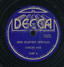 78tk-hillbilly -DECCA 5169-Curley Fox ***Fiddle