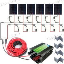 1500W Solar Complete Kit: 6*250W Poly Solar Panel for 24V Home Off Grid Charger