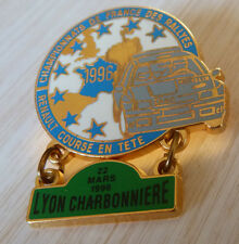 PIN'S RALLYE LYON CHARBONNIERE TEAM DIAC MICHELIN RENAULT CLIO WILLIAMS 1996