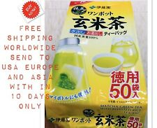 ITOEN Matcha Green Tea Brown rice tea including (Tea bag 50 Packs ) Japan