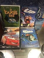 A Bugs Life DVD 1997 Disney Pixar 4 Film Lot Cars, UP, And Finding Nemo Family