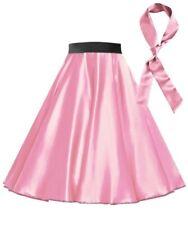 Ladies Satin Rock n Roll Skirt 1950s Costume 50s Grease Retro 50's Fancy Dress
