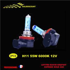 2 H11 55w xenon gaz Halogene eclairage plus blanc 6000k  12v *