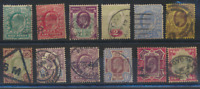 Great Britain Stamps Scott #127 To 138, Used