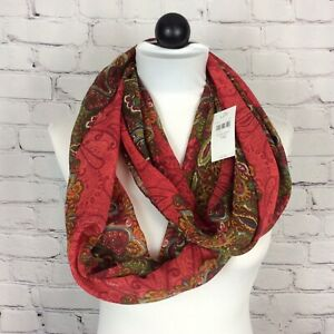 J Jill Multicolored Floral and Paisley Design Infinity Scarf Lightweight