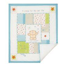 Luxury Forever Friends 'Little star' baby Boy Nursery Cot Quilt