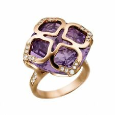 Brand New Authentic Chopard Imperiale Cocktail Amethyst Ring 18K Gold Size 7.5