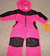 Healthtex  Winter Snow Suit Hooded Size 12 Months baby girl HOT pink black