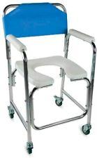 Mobiclinic Toilettenstuhl, Fahrbar, Aluminium, mit gepolsterten Armlehnen, Blau#