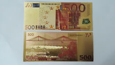New listing €500 Euro Coloured Crafts Eu Gold Foil Currency Paper Money Small 100Pcs Novelty