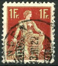 "SWITZERLAND - SVIZZERA - 1908 - Allegoria dell'""Helvetia"" - 1 fr. carm. e oliva"