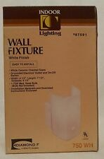 Indoor Lighting Wall Fixture White Ceramic Channel Glass 750WH DFT Lighting