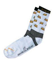 Jean-Michel Basquiat Mens White Crown Novelty Socks > One Size UK 7-11 EU 41-46