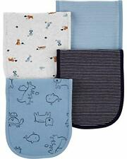 New listing Carter's Baby Boys 4 Pack Cotton Burp Cloths (Blue/Animals)