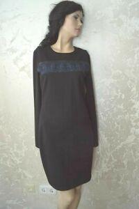 Calvin Klein Jeans Damen Kleid Langarm Kurz Schwarz/Muster Gr.M UVP 99,95 Neu