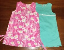 Lilly Pulitzer Butterflies & Daisies Girls Pocket Shift dresses lot of 2 Sz 4t