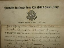 New ListingUnited States Army Honorable Discharge 1918 Camp Dodge Iowa Ww1 Us Pvt. Gaines