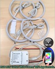 Cotton Ring RGB SMD LED WIFI APP Angel Eyes Halo DRL Kit For E83 BMW X3 04-10