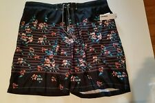 Men's Sonoma Brand Black Gray Teal Swim trunks Size XXL