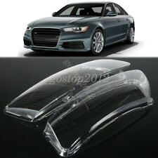 Pair Headlight Lampshade Lens Shell Cover Replacement For Car Audi A6 C6 06-11