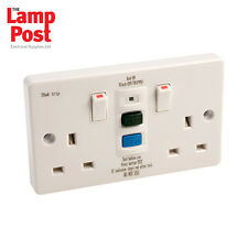 EUROPA rcd13ass RCD 2 double twin gang socket switched 13amp 30ma