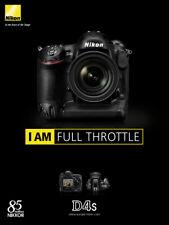 Nikon D4S Camera Brochure - I am Full Throttle - New