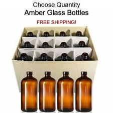 32 oz Amber Glass Boston Round Air Tight Seal Growler Kombucha Bottles Poly-Cone