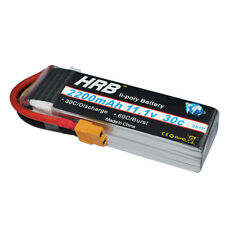 HRB 11.1V 3S Lipo Battery 2200mAh 30C 60C XT60 For RC Trex 450 Helicopter Drone