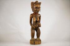 "Chokwe Statue of Nursing Mother 26"" - Drc - African Art"