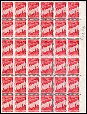 Russia, partial sheet of 36 stamps of Scott# C22, Michel# 399 A, MNHOG