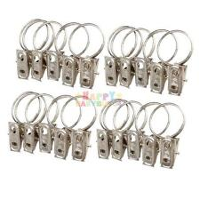 20pcs Multipurpose Window Curtain Clothes Metal Clips with Drapery Ring Hooks