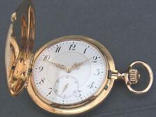 alte Sprungdeckel Taschenuhr 585/- Gold 3 Deckel Union Glocke